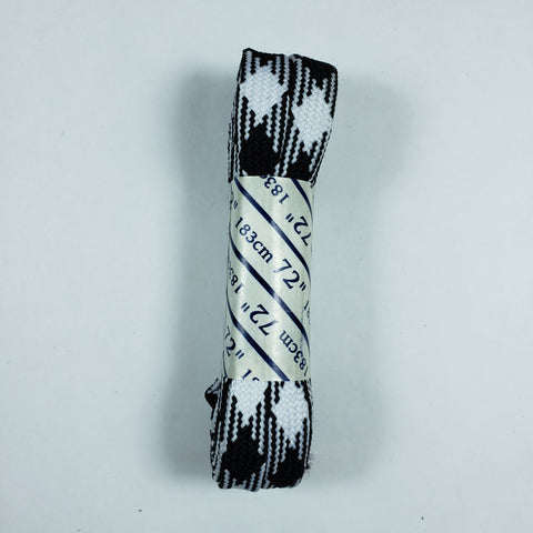 72 inch Plaid Lace - Black and White