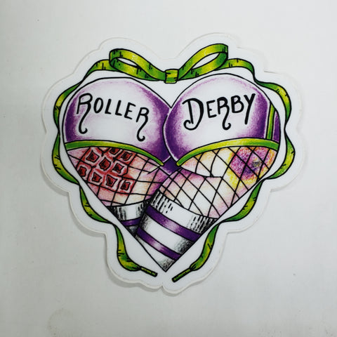 Roller Derby Butt Sticker