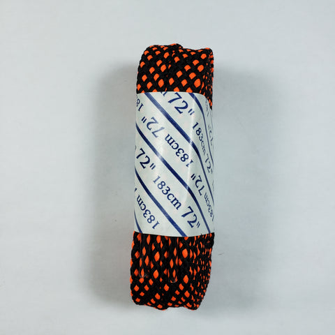72 inch Black and Orange Checkered Lace