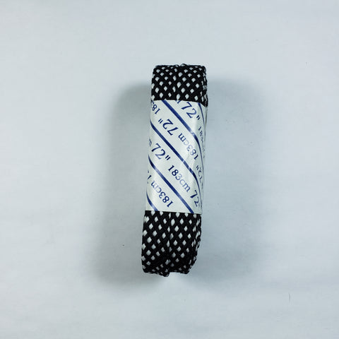 72 inch Black and White Checkered Lace