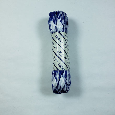 72 inch Plaid Lace - Blue and White