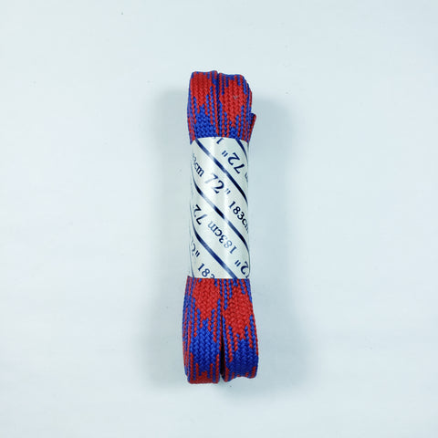 72 inch Plaid Lace - Blue and Red