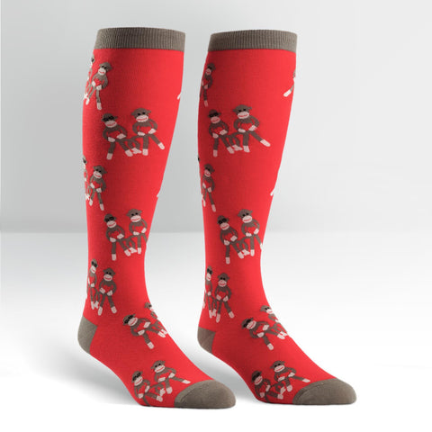 Sock Monkey Love : STRETCH-IT Knee High