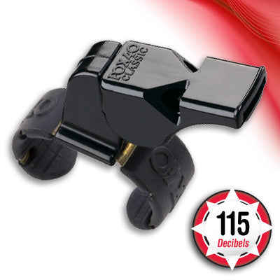Fox 40 Classic Fingertip Whistle - Black