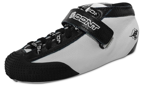 Bont Hybrid Carbon Leather - White with Black Trim