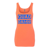 QUAD DAMN! LADIES TANK TOP ORANGE