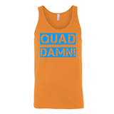 QUAD DAMN! UNISEX TANK TOP ORANGE