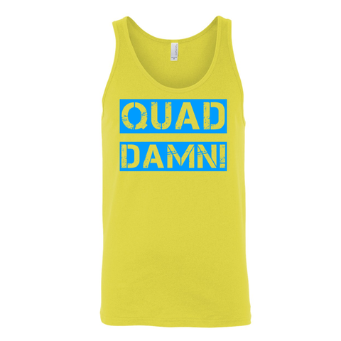 QUAD DAMN! Unisex Tank Top Yellow