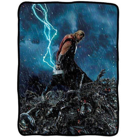 Avengers: Age Of Ultron Thor Lightning Fleece Throw Blanket - Littles Toy Company