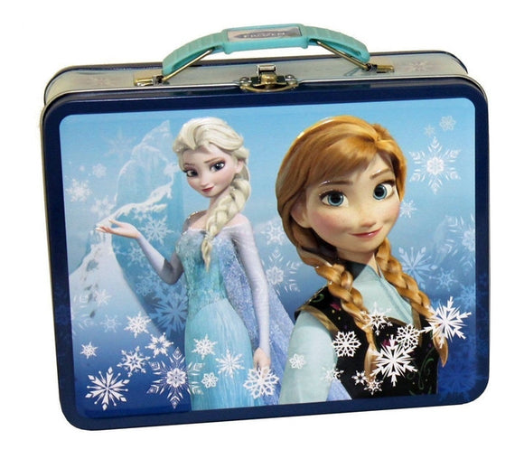 Frozen Anna & Elsa Square Tin - Littles Toy Company