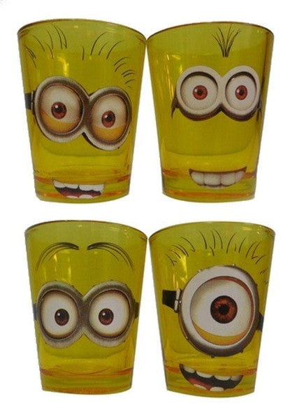 DESPICABLE ME MINION SHOT GLASS SET OF (4) 1.5 OUNCE GLASSES - Littles Toy Company