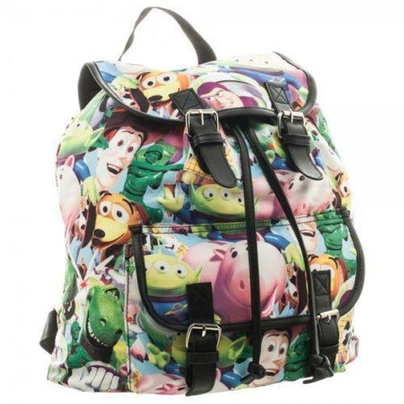 Disney Toy Story Sublimated Slouch Knapsack Backpack NEW! Buzz, Woody - Littles Toy Company