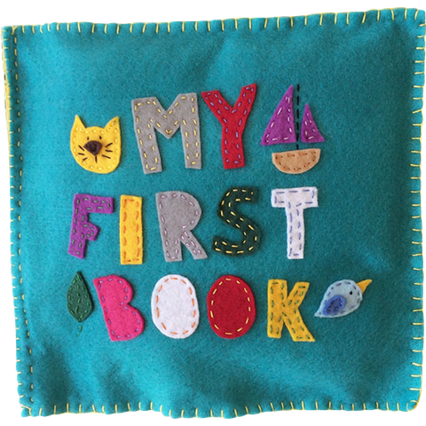 My First Book is an ECD felt book for early readers by Sarah Jager
