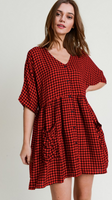 Checkered Button up Dress
