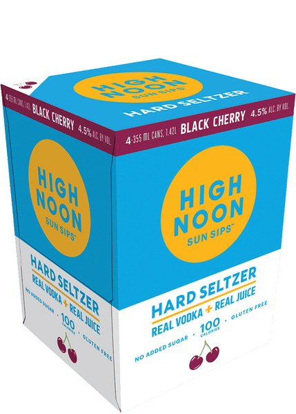High Noon Black Cherry Hard Seltzer 4PK