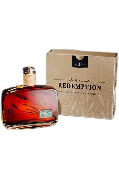 Redemption 18 Year Old Rye Whiskey