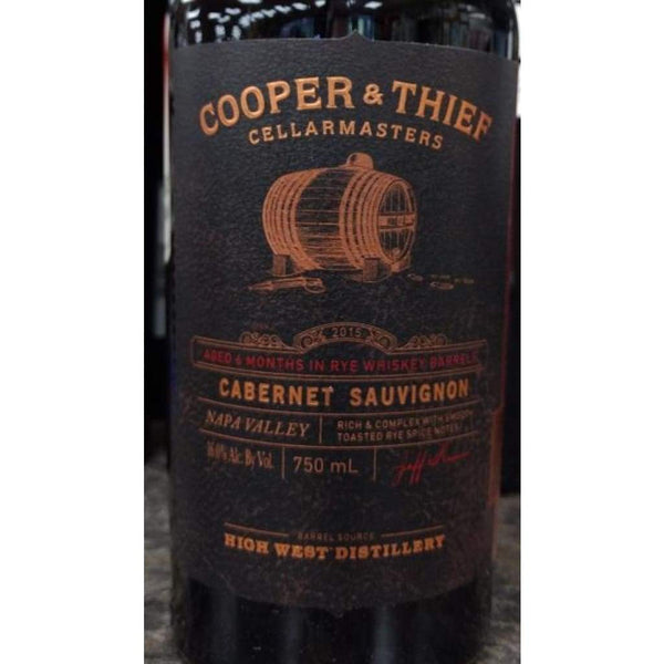 2015 Cooper & Thief Cellarmasters Bourbon Barrel Cabernet Sauvignon