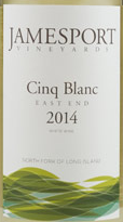 2015 Jamesport East End Cinq Blanc