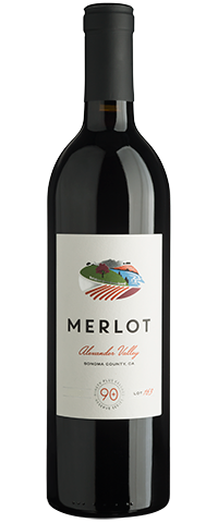 90+ Ninety Plus Cellars Merlot Lot 163 Alexander Valley 2018