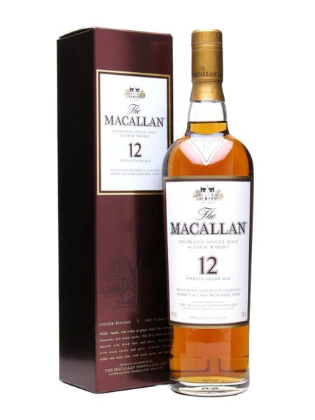 The Macallan 12 Year Old Sherry Oak Single Malt Scotch Whisky