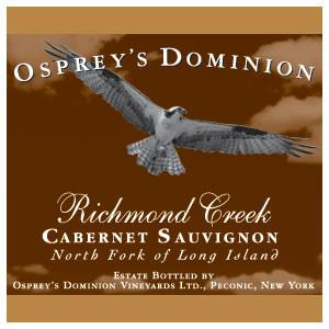 2012 Osprey's Dominion Vineyards Richmond Creek Cabernet Sauvignon