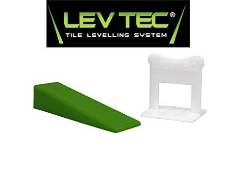 "Lev-Tec Tile Leveling System 1/16"" Kit (250 Wedges, 500 1/16"" Clips, and 1 Pliers)"
