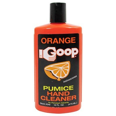 Orange Goop Waterless Hand Cleaner With Natural Citrus & Pumice, 16 oz Flip Top Bottle