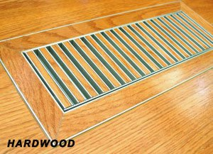 "4""x10"" 3/8"" Thick Floor Vent Registers Matching Floor Tile Hardwood Laminate"