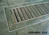 "Chameleon 4""x10"" 3/8"" Thick Floor Vent Registers Matching Floor Tile Hardwood Laminate"