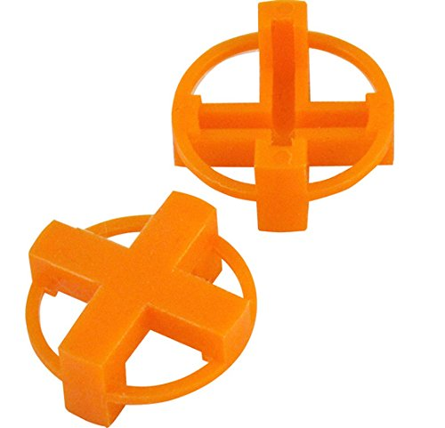 "1/4"" Tavy 4-Corner View Tile Spacers Box 500 pcs (orange)"