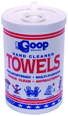 10 Inch X 12 Inch Goop Hand Cleaner Multi-Purpose Towels Pack of 90