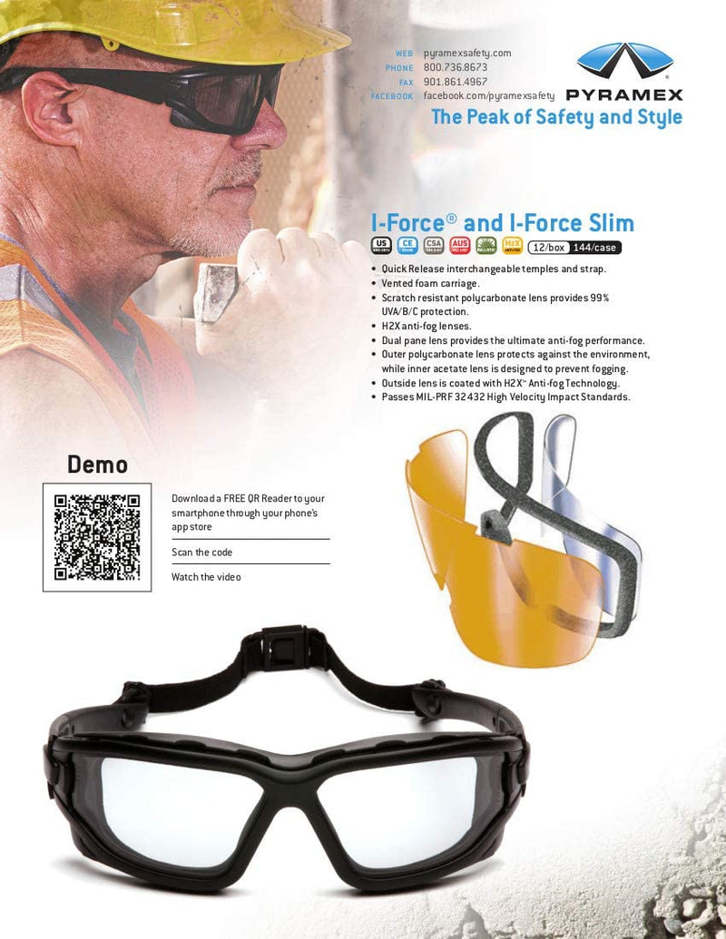 Pyramex I-Force Slim Safety Goggle