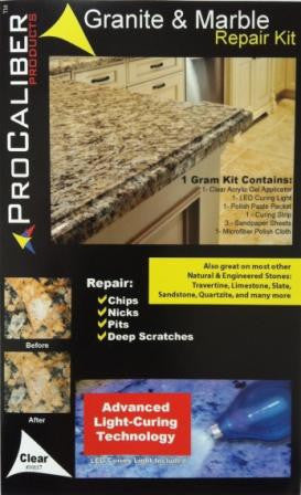 Granite & Marble Chip, Nick and Pit Repair Kit - Clear LCA