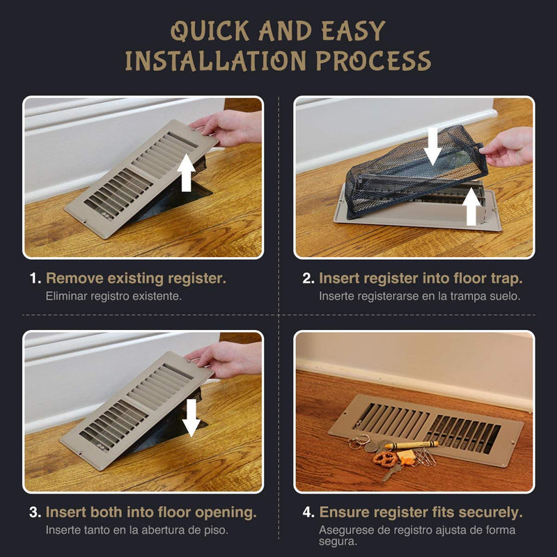 Floor Register Trap - Screen for Home Air Vent Filters