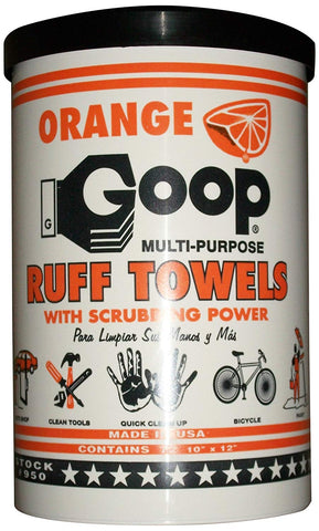 "Orange Goop Multi Purpose Ruff Disposable Towels with Scrubbing Power (72 Pc 10"" X 12"")"