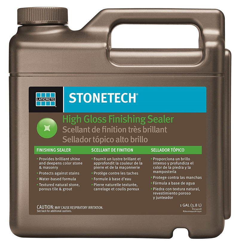 StoneTech High Gloss Finishing Sealer for Natural Stone, Tile, & Grout, 1-Gallon