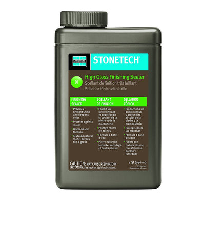 StoneTech High Gloss Finishing Sealer for Natural Stone, Tile, & Grout, 1-Quart