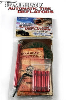 Trailhead automatic tire deflators - Set of 4, Red