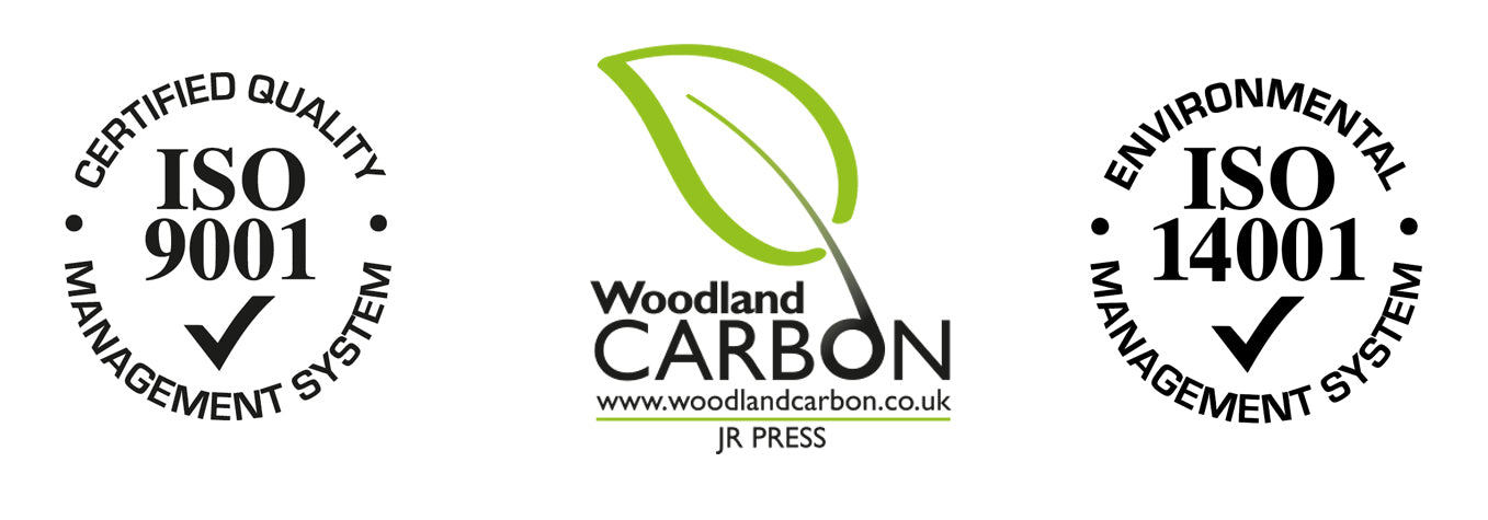 ISO & Woodland Carbon logos