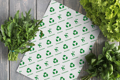 Sustainable branded greaseproof paper