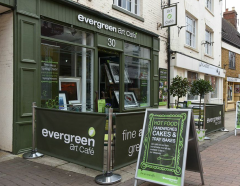 Evergreen Art Cafe - one of Its A Wrap's first customers