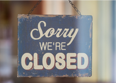 Restaurants and food businesses forced to close due to Covid