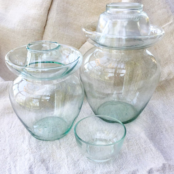 Hand Blown Chinese Glass Pickle Jar