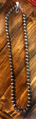 Navajo Pearl Single Strand Necklace
