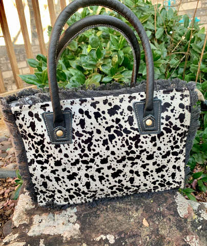 Cowhide & Canvas Tote