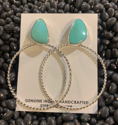 Authentic Turquoise Hoops