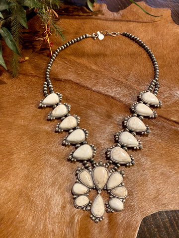 Ivory Squash Blossom Necklace
