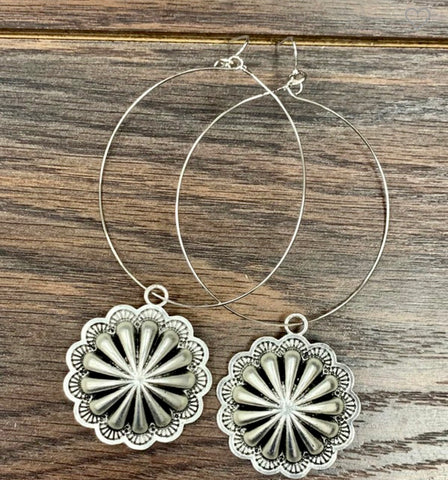 Buffalo Hoop Earrings
