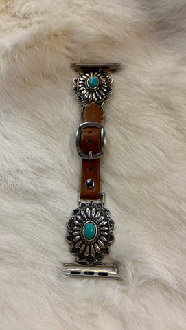 Black Leather Coin Fringe Bracelet