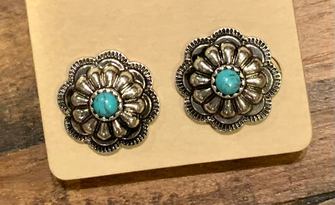 Concho Flower Studs